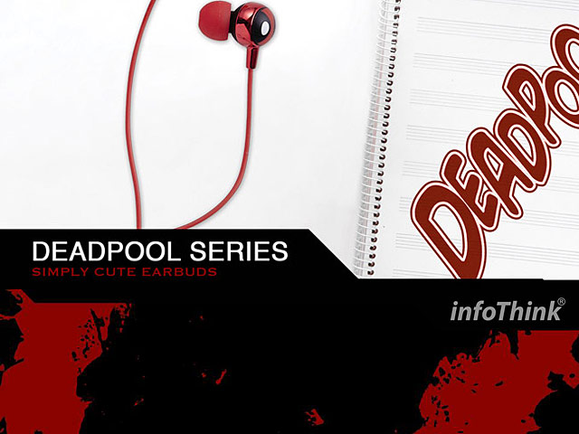infoThink Deadpool 2 Simply Cute 3.5mm Earphone