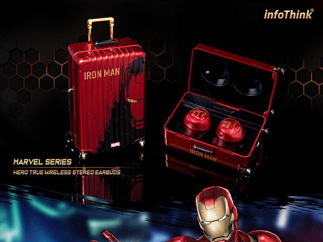 infoThink Hero True Wireless Stereo Earbuds - Iron Man
