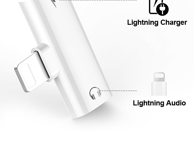 Lightning to Lightning Audio + Charger Mini Adapter