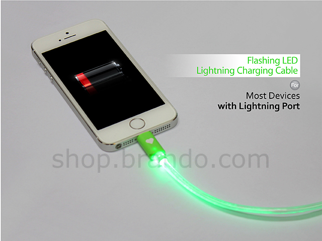 Flashing LED Lightning Charging Cable