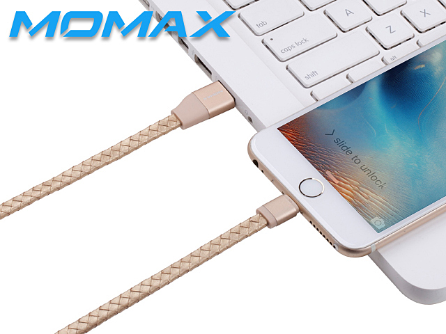 Momax Elite Link - 1M Lightning Leather Cable