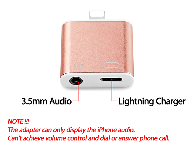 Lightning to 3.5mm Audio + Charger Adapter for iPhone 7 / 7 Plus