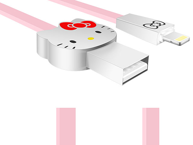 Hello Kitty Alloy Lightning USB Cable