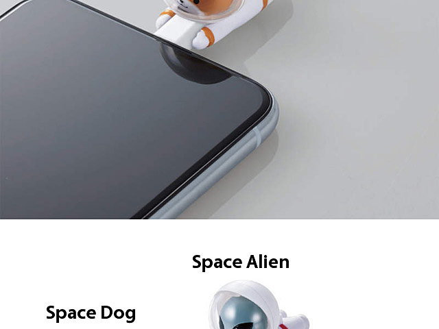 ELECOM Cable Bite Space Animal Series for Lightning Cable