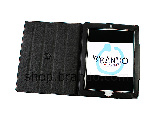 Brando Workshop Leather Case for iPad 2 (Side Open w/ magnet)