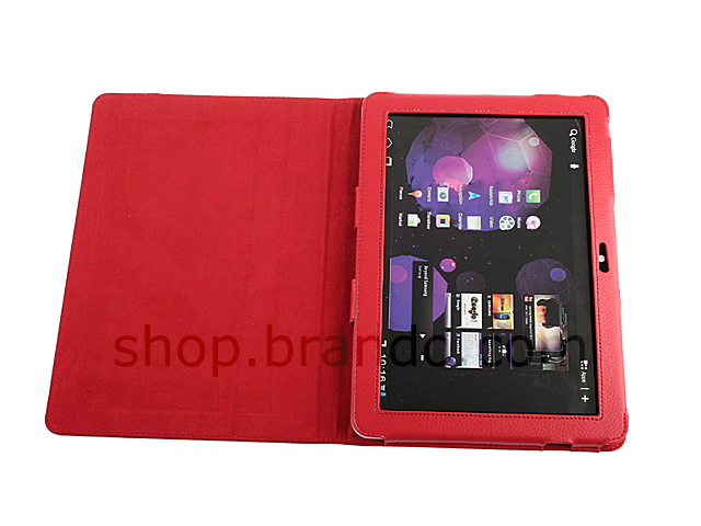 Artificial leather case for Samsung GT-P7500/P7510 Galaxy Tab 10.1 (Side Open)