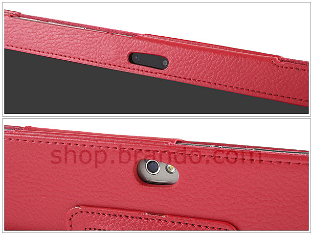 Artificial leather case for Samsung Galaxy Tab 8.9 (Side Open)
