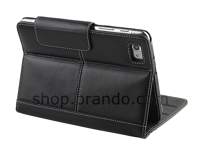 Brando Workshop Leather Case for Samsung GT-P6810 Galaxy Tab 7.7 (Side Open w/ magnet)