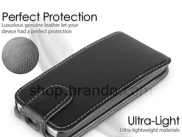 Brando Workshop Leather Case for iPhone 5 / 5s / SE (Flip Top)