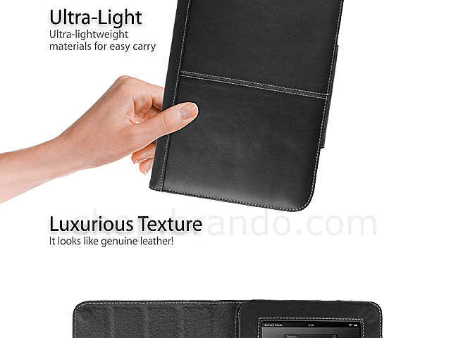 "Brando Workshop Leather Case for Amazon Kindle Fire HD 7"" (Side Open w/ magnet)"