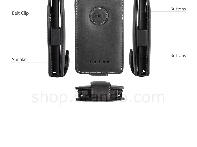 Brando Workshop Leather Case for HTC Windows Phone 8X (Flip Top)