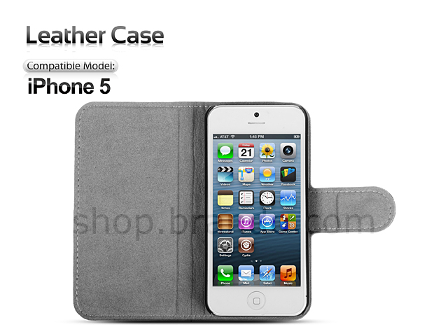 Brando Workshop Leather Case for iPhone 5 / 5s / SE (Side Open)