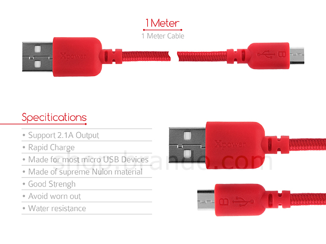 Xpower Ultra High-Speed Micro USB Cable
