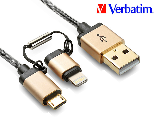Verbatim microUSB + Lightning Sync Charging Cable