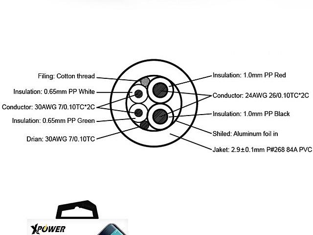 xpower 3rd gen aluminium alloy micro usb cable