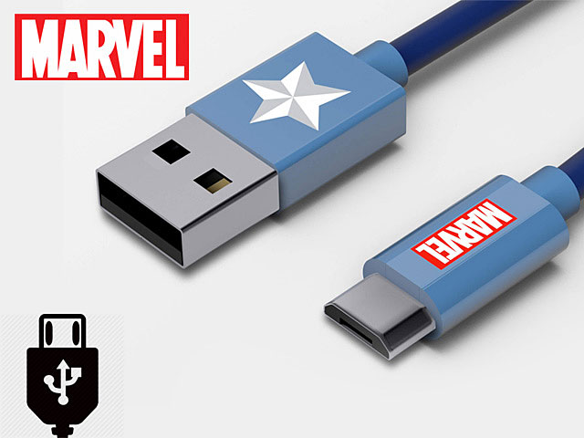 Tribe Captain America micro USB Cable