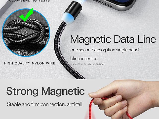 microUSB Magnetic LED Charging Cable