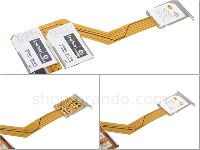 3-in-1 Sim Card for iPhone 4 with Back Case
