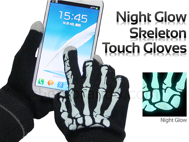 Night Glow Skeleton Touch Gloves