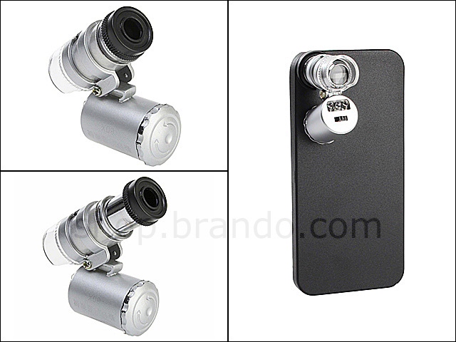 iPhone 5 / 5s Microscope with White 2-LED and Note Detector LED