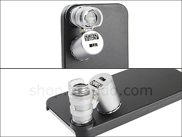 iPhone 5 Microscope with White 2-LED and Note Detector LED