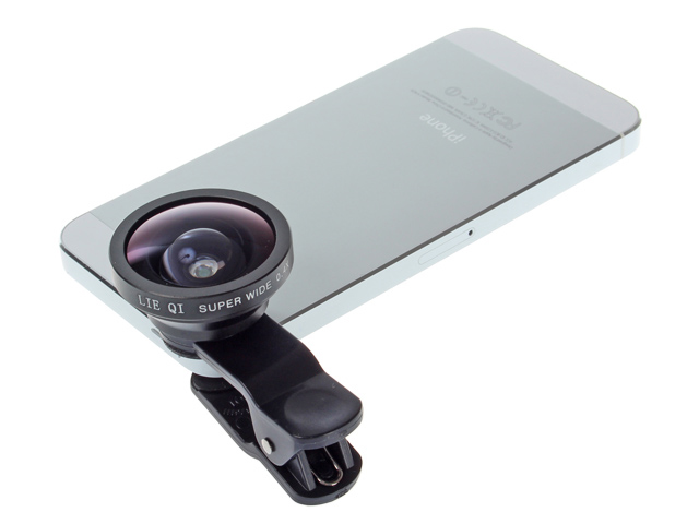 Universal 3-IN-ONE Clip-On Lens Set for Smart Phones ( Super Wide Angle 0.4X + Marco + Fisheye Lens)