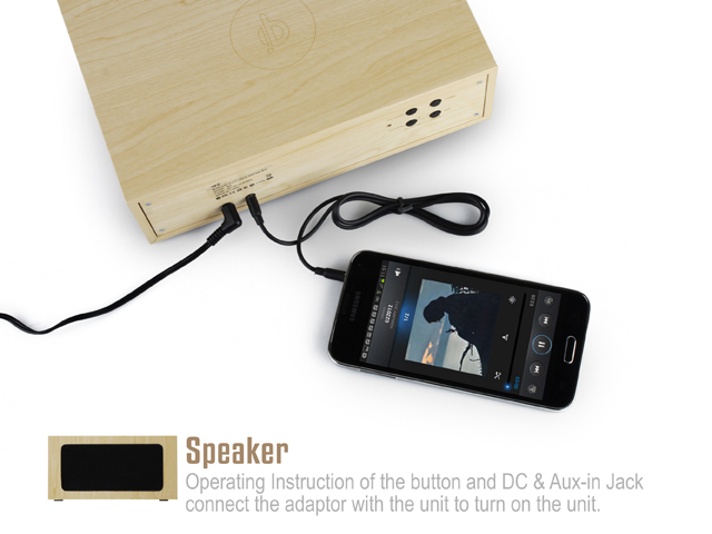 W2 QI Wireless Charging Wood