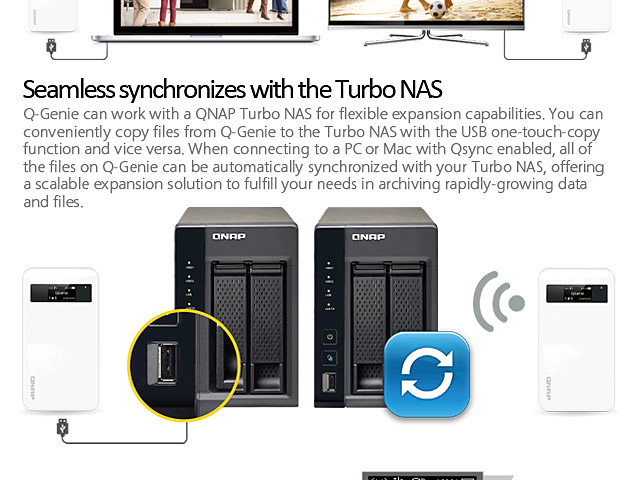 QNAP Q-Genie 7-in-1 Mobile NAS