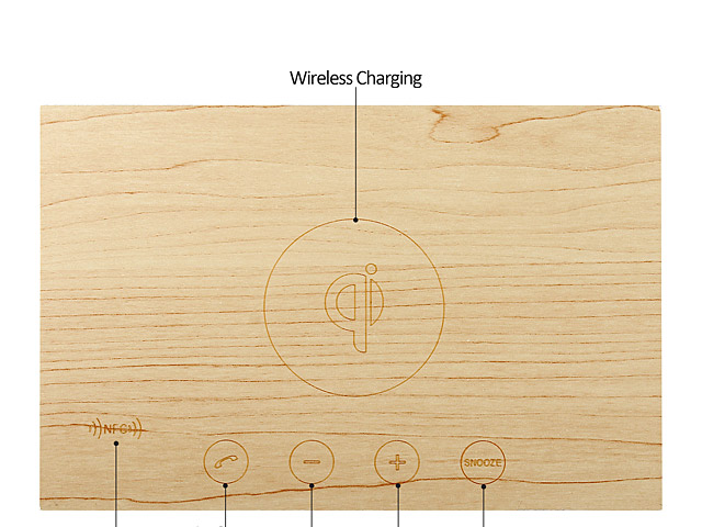 X5 QI Wireless Charging Wood