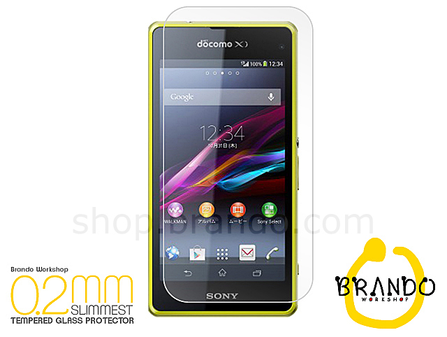 Brando Workshop 0.2mm Premium Tempered Glass Protector (Sony Xperia Z1 compact / Z1f)