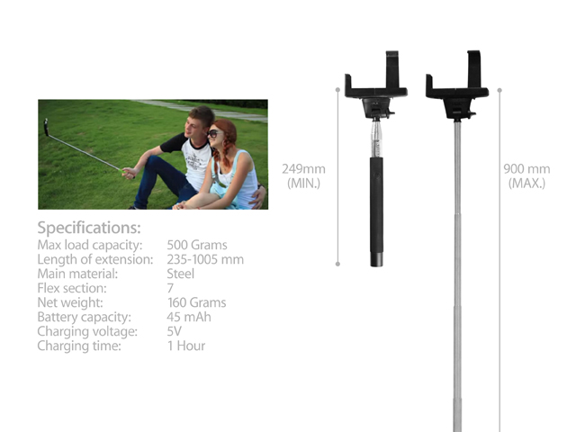 Quick Selfie Pole with Shutter Button for Android