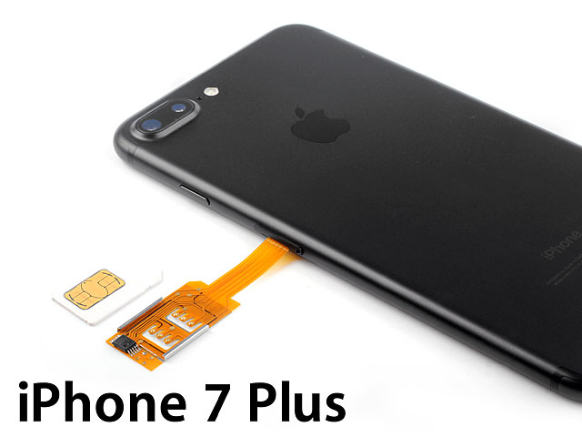 Dual Sim Card for iPhone 7 Plus with Back Case