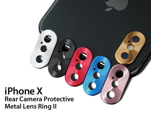 Iphone X Rear Camera Protective Metal Lens Ring Ii