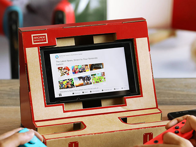 Labo DIY Cardboard Holder Arcade Bracket for Nintendo Switch