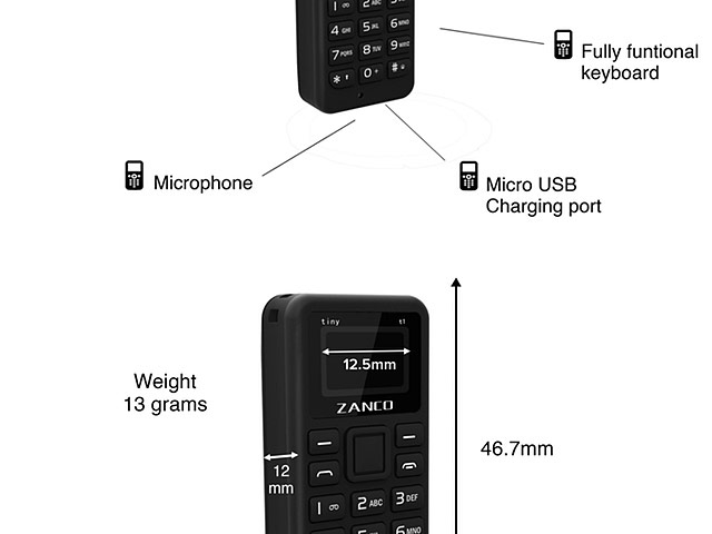 Zanco Tiny T1 Mini Mobile