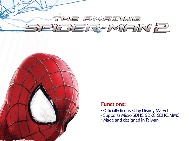 InfoThink The Amazing Spider-Man 2 Dual Card Reader (Android Smart Phone, PCTablet)