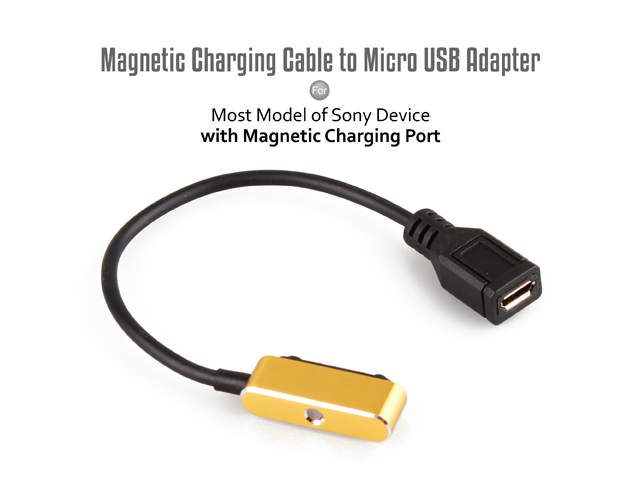 Magnetic Charging Cable to Micro USB Adapter