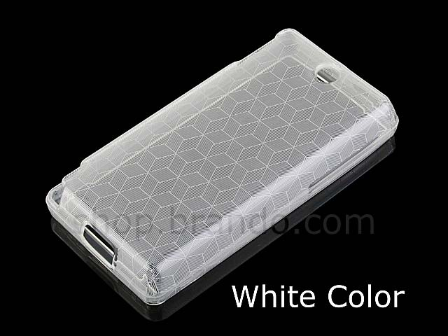 HTC Touch Diamond 2 Hexagon Patterned Soft Plastic Case