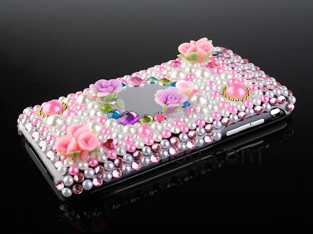 Iphone 2g 3g 3g S Bling Bling Back Case Pearls
