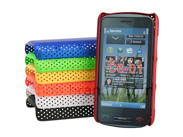 meet 7634c 195ca Nokia C6-01 Perforated Back Case