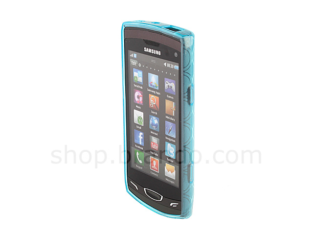 Samsung Wave Ii Gt S8530 Circle Patterned Soft Plastic Case
