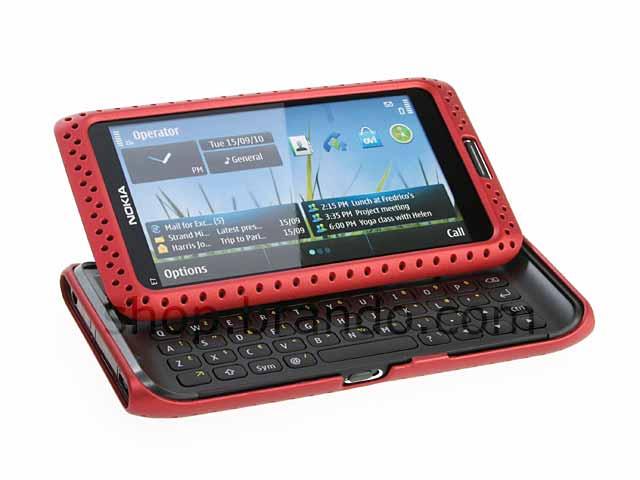 Nokia E7-00 Perforated Back Case