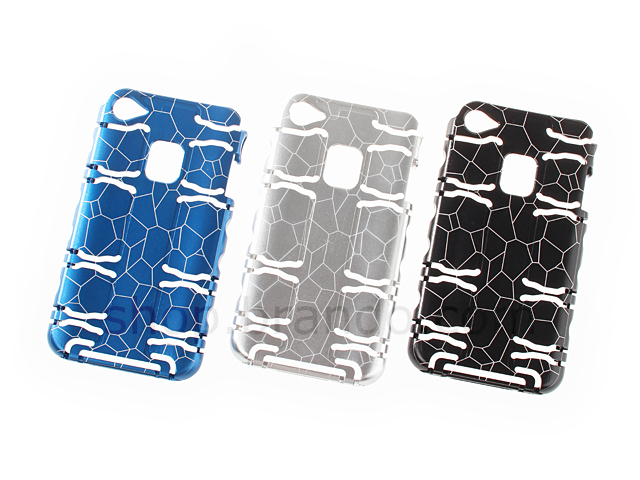 iPhone 4/4S Ergonomic Metallic Protective Back Case