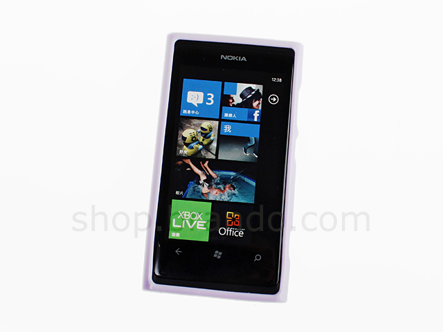 Nokia Lumia 800 Shiny Dust Coating Silicone Case