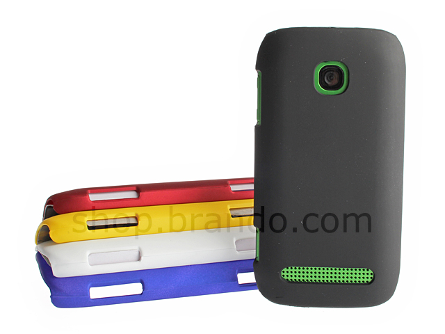 huge discount a4f6f a44a5 Nokia 603 Rubberized Back Hard Case