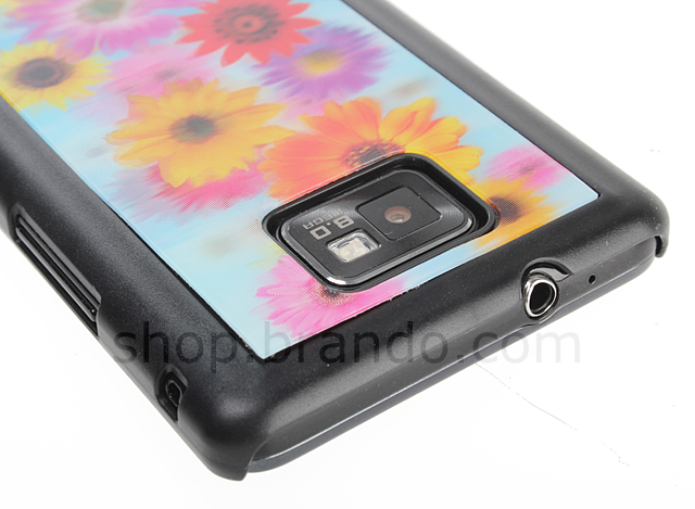 Samsung Galaxy S II 3D Motion Back Case - Flowers