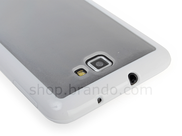 Samsung Galaxy Note See Through Case with Rubber Lining