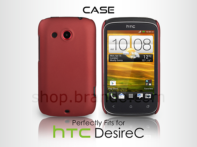 half off 85e31 413ed HTC Desire C Rubberized Back Hard Case