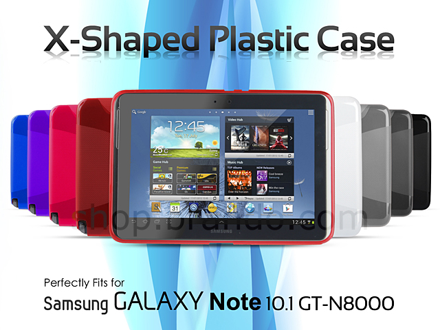 Samsung Galaxy Note 10.1 GT-N8000 X-Shaped Plastic Back Case