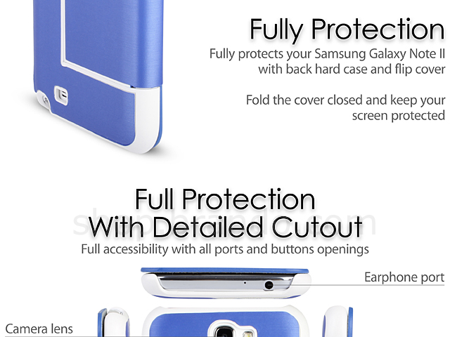 Folio Flip Case for Samsung Galaxy Note II GT-N7100